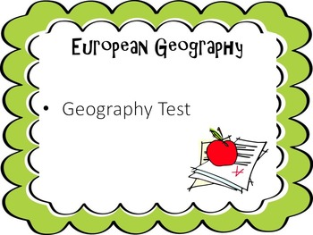 European Geography Test
