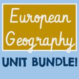 European Geography UNIT BUNDLE!