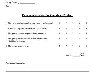 European Geography Unit