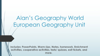 European Geography Unit Bundle Materials