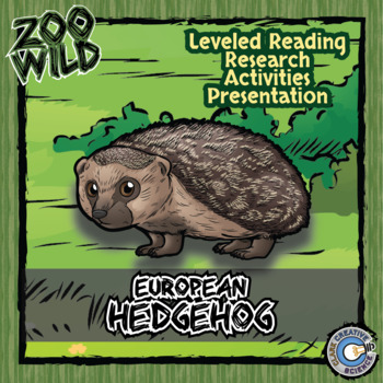 European Hedgehog -- 10 Resources -- Coloring Pages, Readi