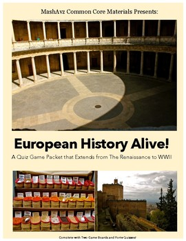European History Alive! - Quiz Game and Review Packet