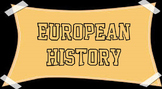 European History Unit - BUNDLE