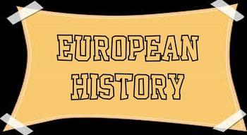 European History Unit - BUNDLE