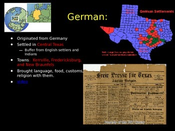 European Immigration to Texas