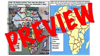 European Imperialism Scamble For Africa Mapping Activity Student