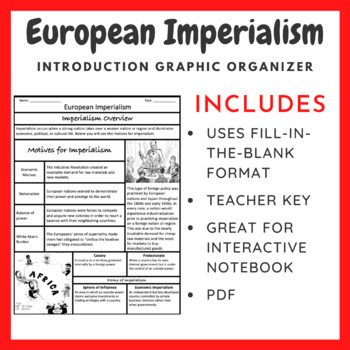 European Imperialism: Graphic Organizer