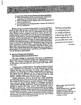 US Constitution: European Influence