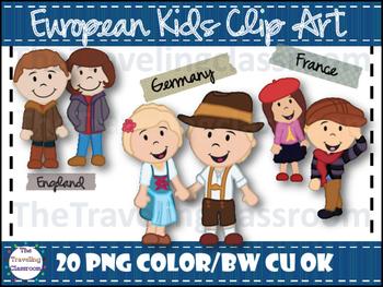 European Kids Clip Art