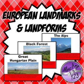 European Landmarks and Land Forms
