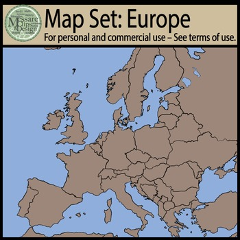 Map Clip Art: European Set {Messare Clips and Design}