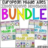 European Middle Ages Interactive Notebook and Graphic Organizers Bundle