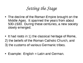 European Middle Ages PowerPoint      History101