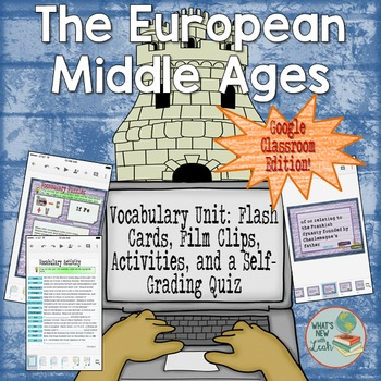 European Middle Ages Vocabulary for Google Classroom and OneDrive