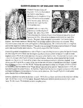 European Monarchs 1215-1790 Activities