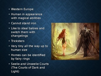 European Mythological & Fairy Tale Creatures