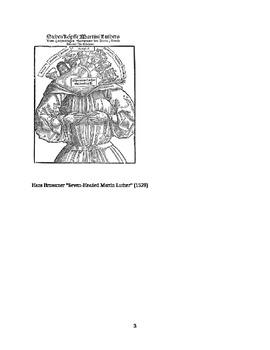 European Reformation Test, Assessment.  History 101