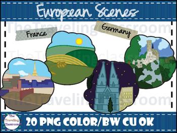 European Scenes Clip Art