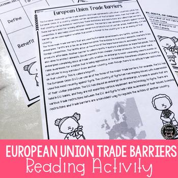 European Union Trade Barriers Reading Activity (SS6E8, SS6E8b)