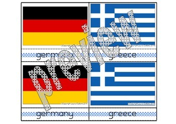 European countries - flags and shapes