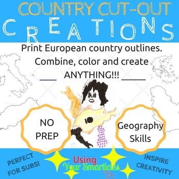 European country creations - blackline europe images