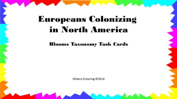 Europeans Colonizing in North America Task Cards