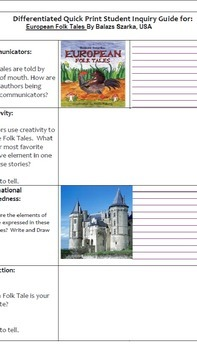 Europen Folktales - PYP and EYP Student and Teacher Bundle