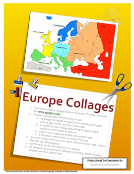 Europe's Geography Collage Project Assessment and Essay Assignment