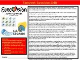 Eurovision Song Contest 2018 Factsheet Sheet Starter Activity Keywords Music