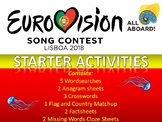 Eurovision Song Contest 2018 Starter Activities for Music
