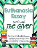 Euthanasia Essay with Rubric and Note-taking/Thesis help for students