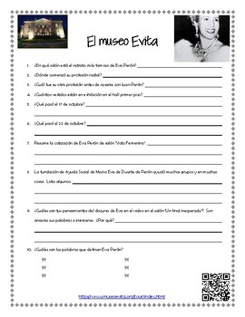 Eva Peron - museum scavenger hunt