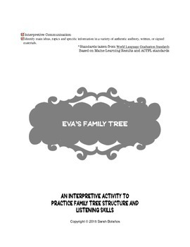 Eva's Family Tree-Interpretive listening activity