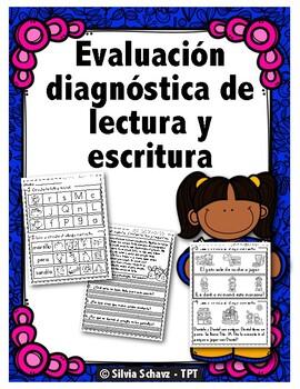 Evaluación diagnóstica de lectura y escritura en español