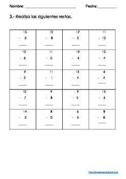 Evaluación Inicial Matemáticas para Grado 2