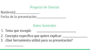 Evaluacion de Proyectos de Ciencias