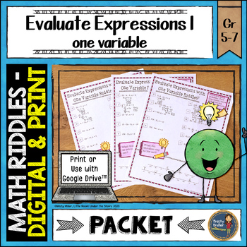 Evaluating Expressions 1 Math with Riddles