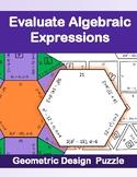 Evaluate Algebraic Expressions Puzzle