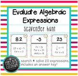 Evaluate Algebraic Expressions Scavenger Hunt
