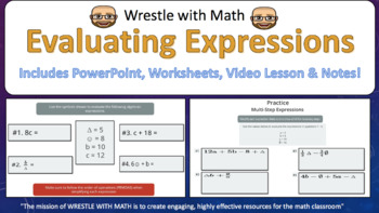 Evaluate Algebraic Expressions (PowerPoint Lesson with Printables!)