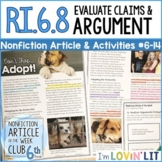 Evaluate Arguments & Claims RI.6.8 | Pet Adoption Article #6-14