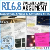 Evaluate Arguments & Claims RI.6.8   UFOs Article #6-15