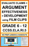 Evaluate Effectiveness of Structure with VIDEO:NO PREP Lesson & Activities: RI.5