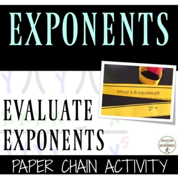 Exponents Paper Chain Activity RECENTLY UPDATED