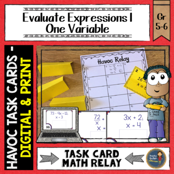 Evaluate Expressions 1 Havoc Relay with Whole Numbers