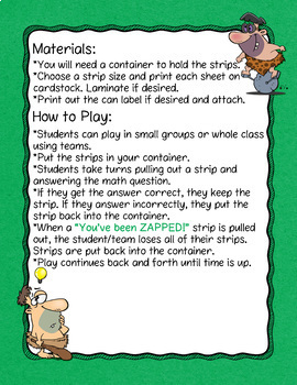 Evaluating Expressions 1 Variable Don't Get ZAPPED Math Game