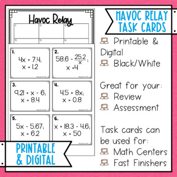 Evaluate Expressions 2 Havoc Relay with Decimals
