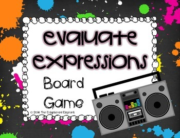 Evaluate Expressions Board Game