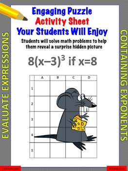 Evaluate Expressions Containing Exponents Activity Worksheet