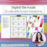 Evaluate Expressions - Digital (GOOGLE DRIVE) Tile Puzzle